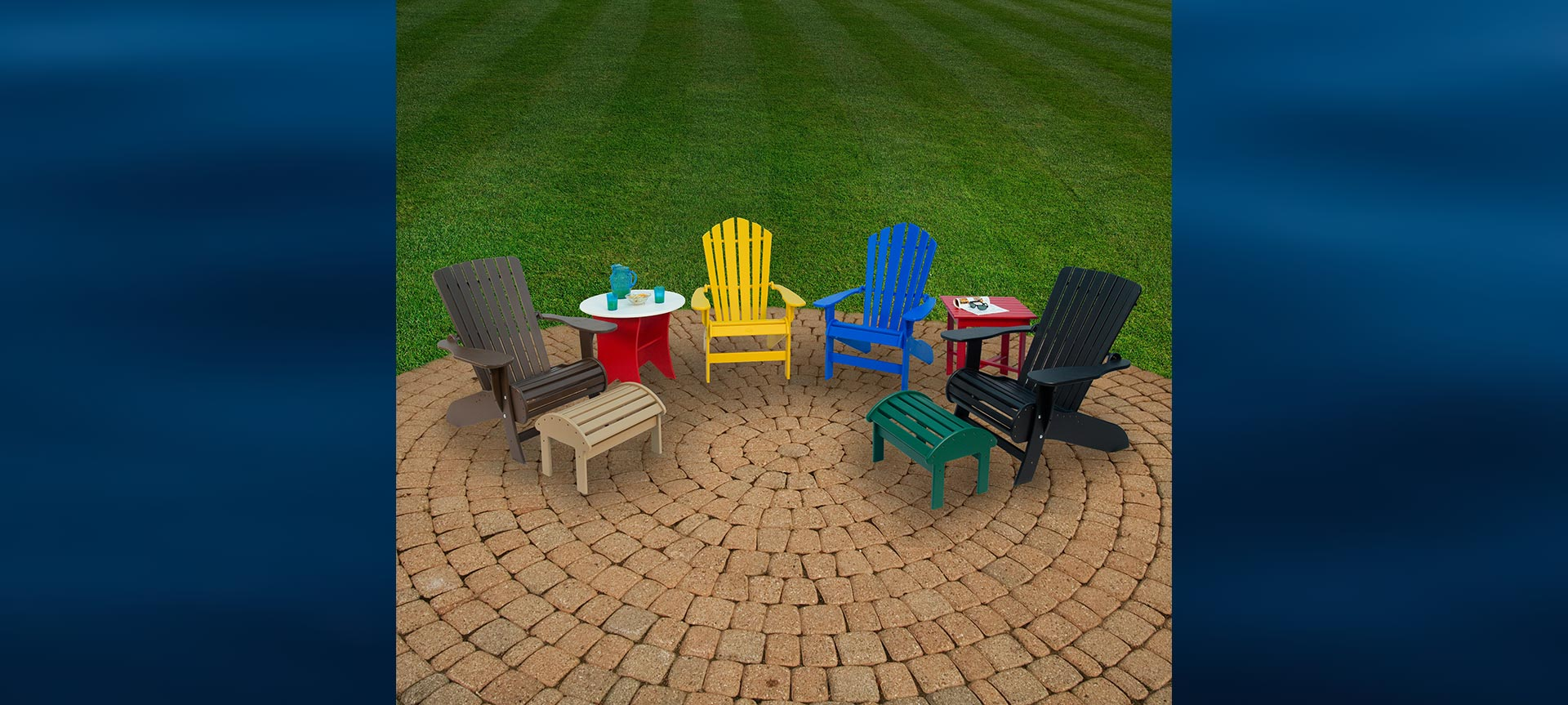 Beaver Springs outdoor plastic furniture in many colors